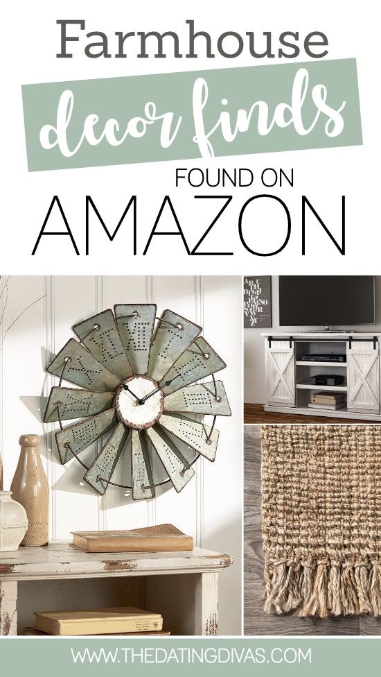 Farmhouse decor is so in right now and we are totally on board. We found the very best decor pieces and the best part, they are all from Amazon and reasonably priced! We have farmhouse kitchen decor, farmhouse bathroom decor, and so many other farmhouse decor ideas. #FarmhouseDecor #TheDatingDivas