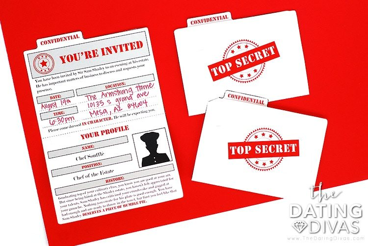 Mystery Detective Game Top Secret Invitations