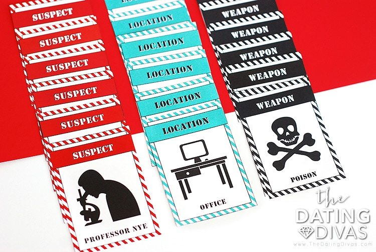 Mystery Detective Game Incident Cards