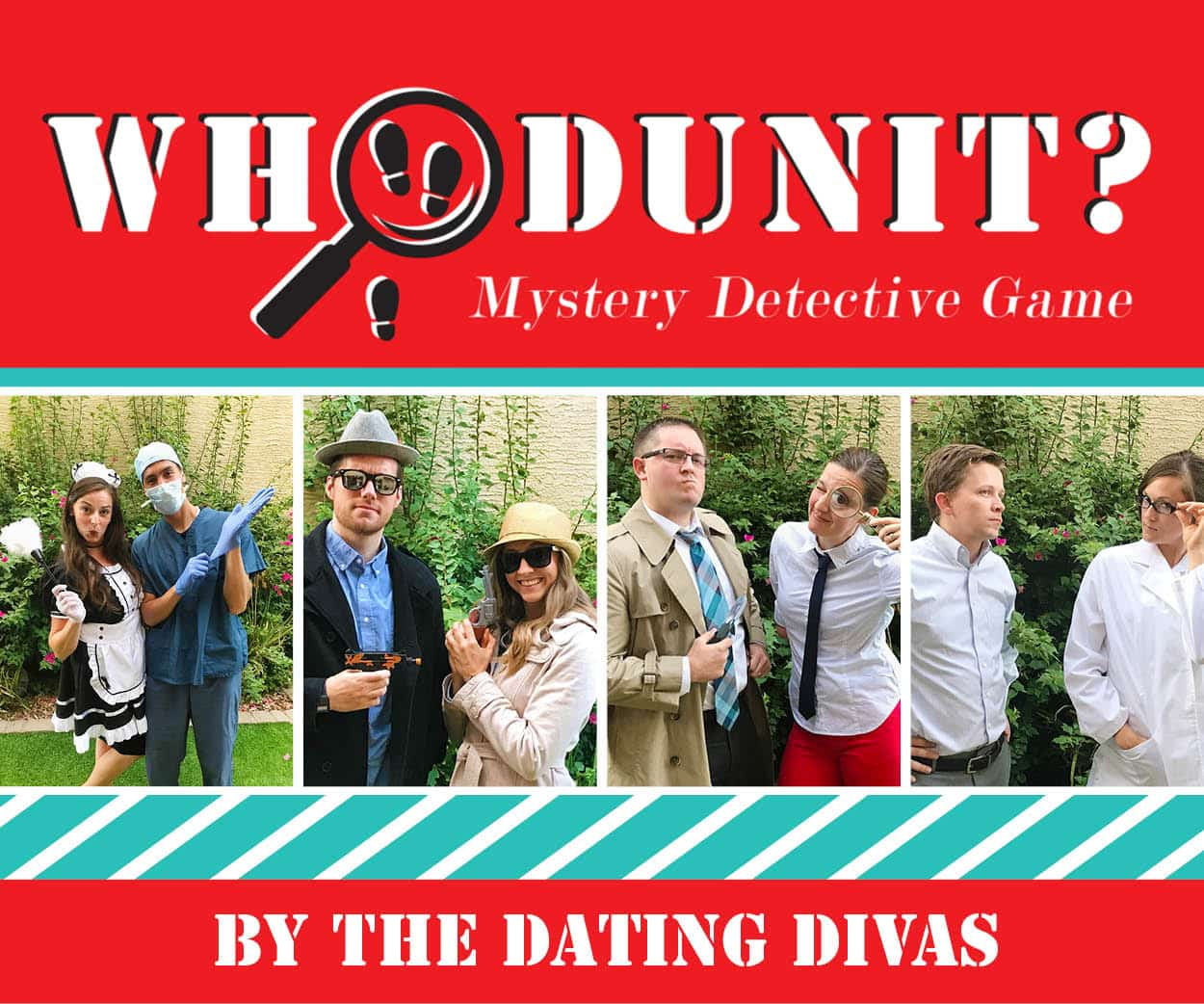 Whodunit Mystery Detective Game Group Date Night by The Dating Divas
