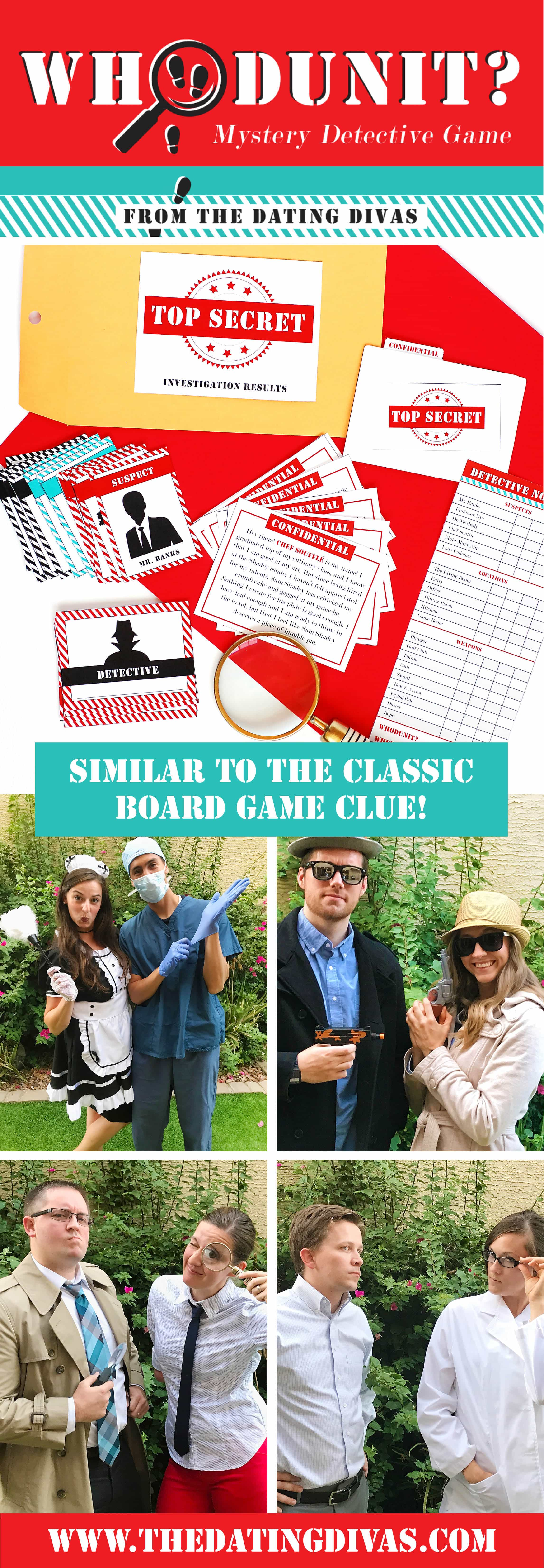 As one of the best DIY detective games out there, enjoy this family friendly Whodunit Mystery Detective Game for all ages! #TheDatingDivas #DIYMurderMystery #Whodunit