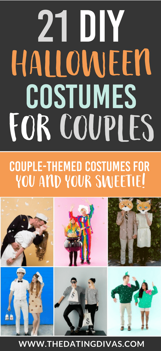 101 DIY Halloween Costumes for Couples #halloweencostumes #diyhalloween
