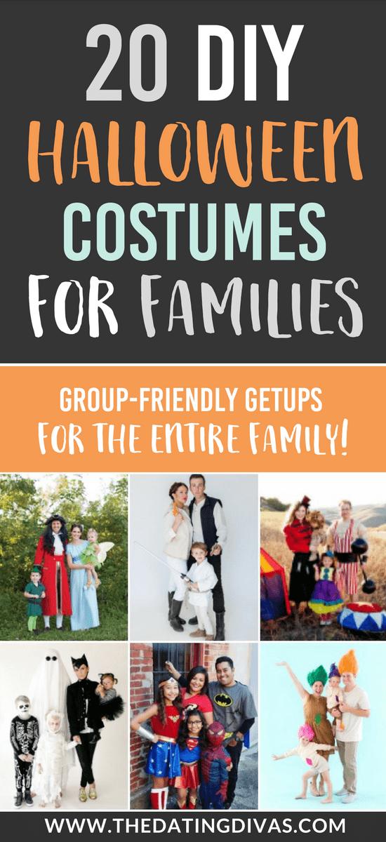 101 DIY Halloween Costumes for Families #halloweencostumes #diyhalloween