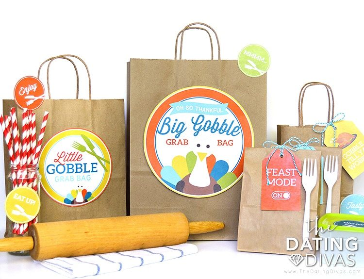 DIY Thanksgiving Leftover Bags Set