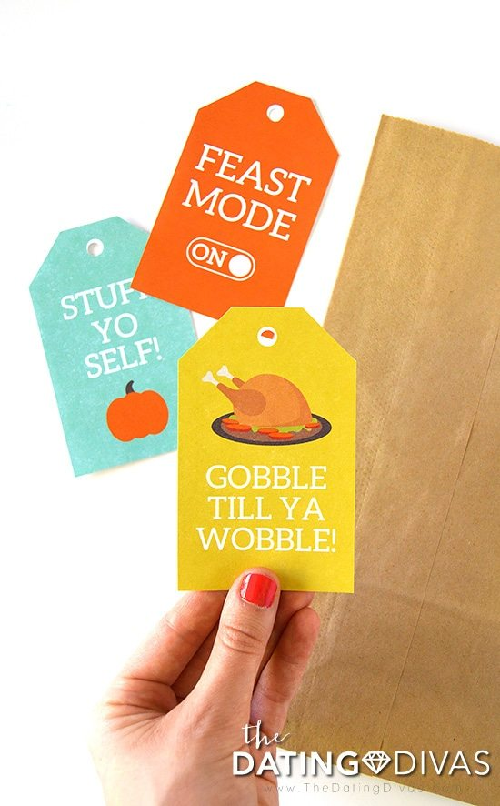 DIY Thanksgiving Leftover Bags Tags