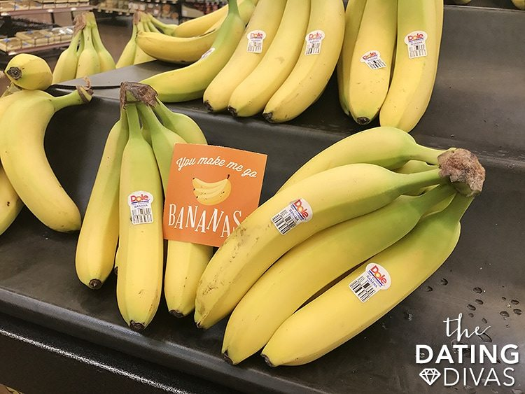 Grocery Store Date Night Banana Love Note