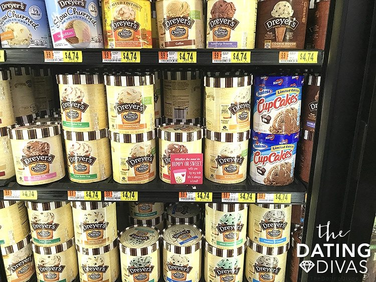 Grocery Store Date Night Ice Cream Love Note