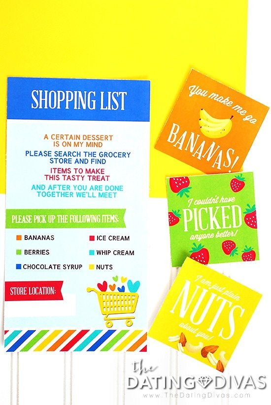 Grocery Store Date Night Printables