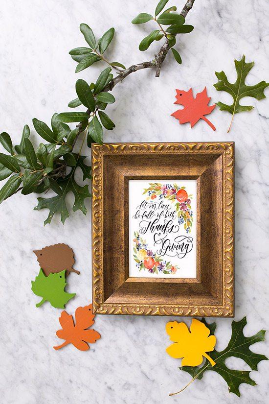 Thanksgiving Watercolor Print