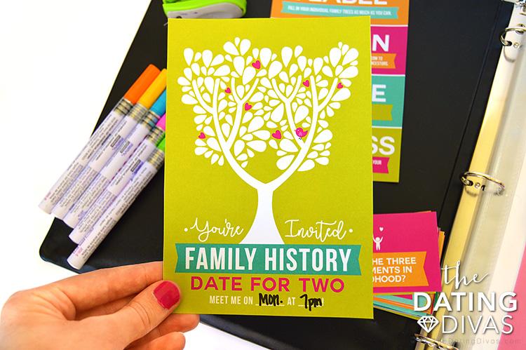 Family History Date Invite #familyhistory #geneology