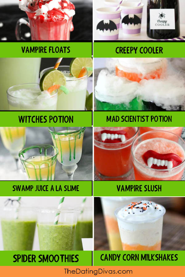 Creepy Halloween Drinks for Kids
