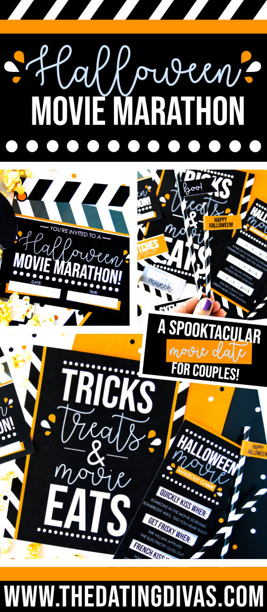 Everything you need for a crazy FUN and FREE Halloween movie marathon! It even includes a great Halloween movies list! #halloweenmovieslist #halloweenmoviemarathon #thedatingdivas