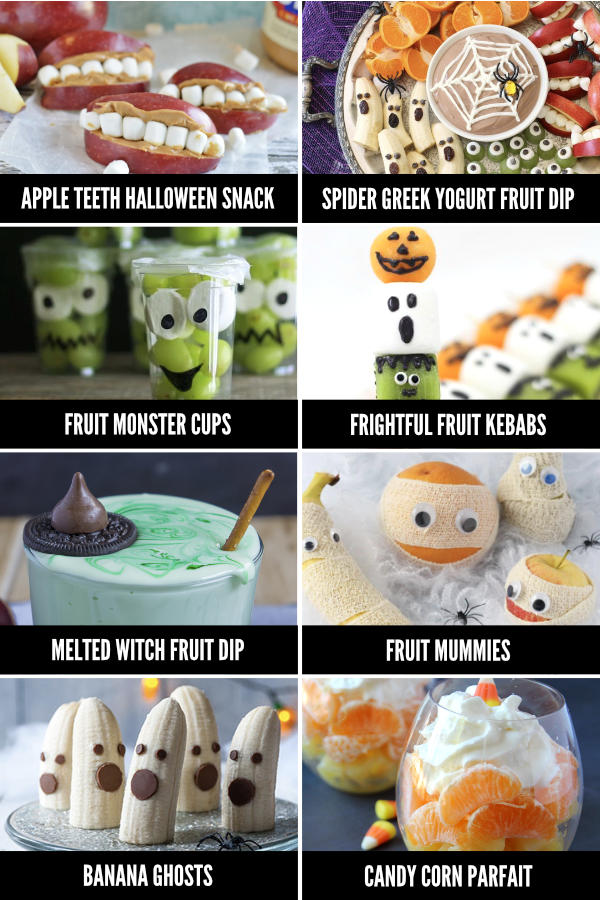 Halloween Themed Fruit Snack Ideas