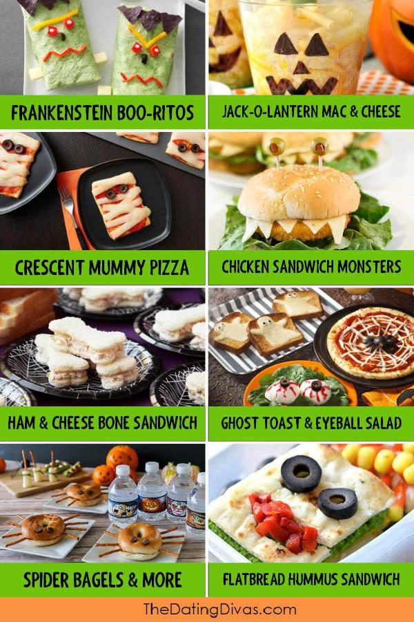 Halloween Themed Lunch Food
