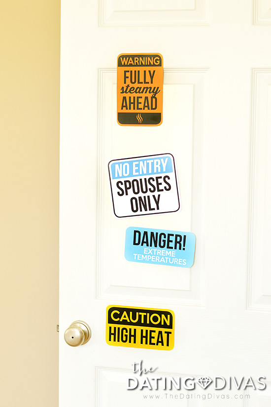 Steamy Shower Game Door Signs