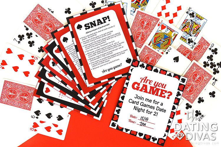 Card Games for Two Date Night Printable Pack