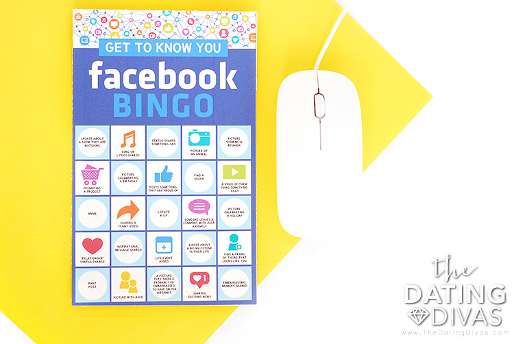 Facebook Get to Know You Bingo