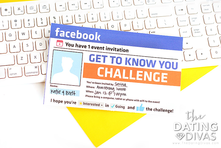 Facebook Get to Know You Invitation