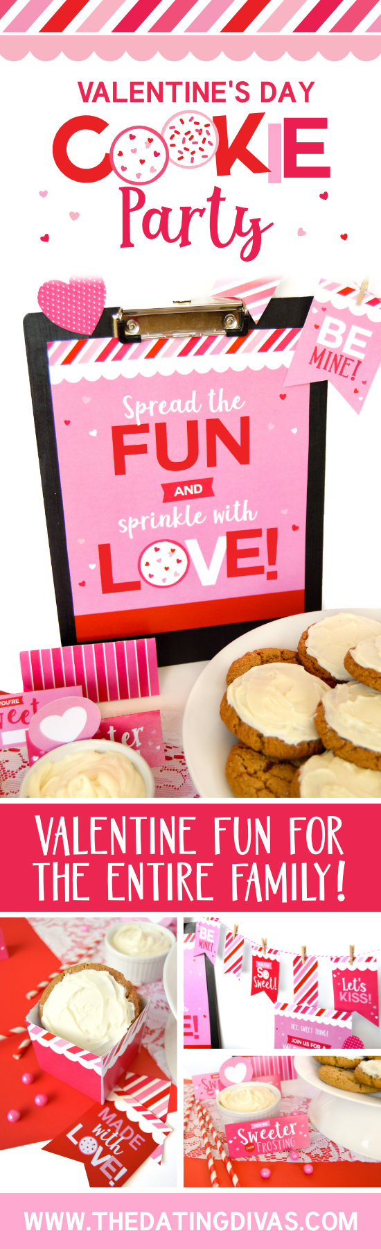 Valentine's Day Cookie Party for Families #valentineparty #valentinestreats