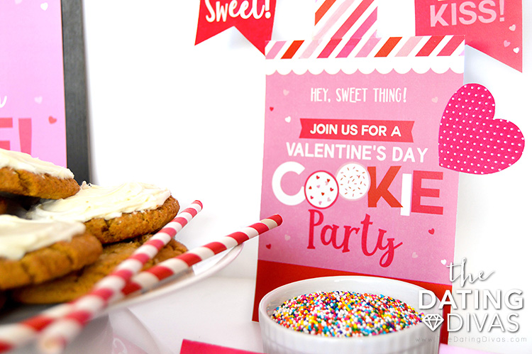 Valentine's Day Cookie Party Invite