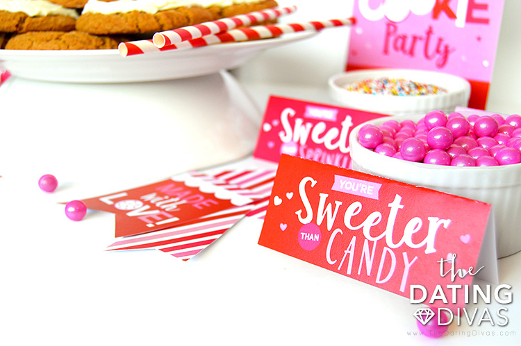 Valentine's Day Cookie Party Topping Tags