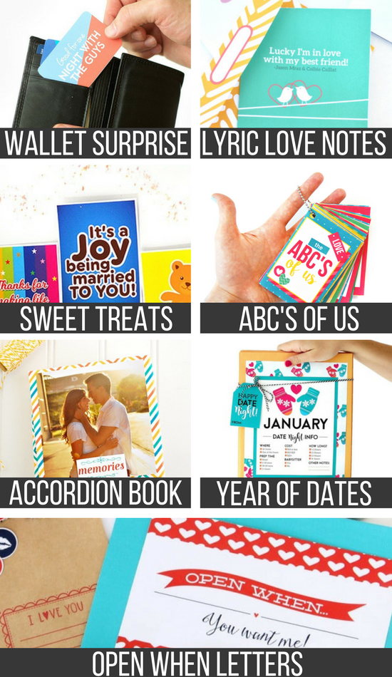 picture grid of diy valentine gifts for him