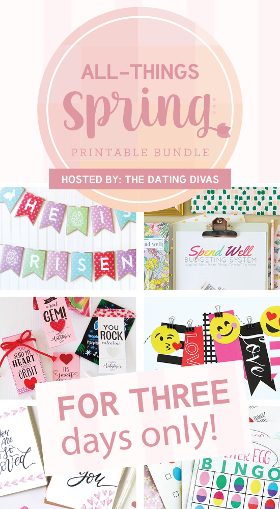 All Things Spring Bundle- TONS of spring printables