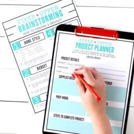 Fixer Upper DIY Project Planner