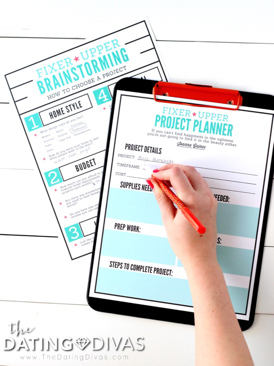 Fixer Upper DIY Project Planner