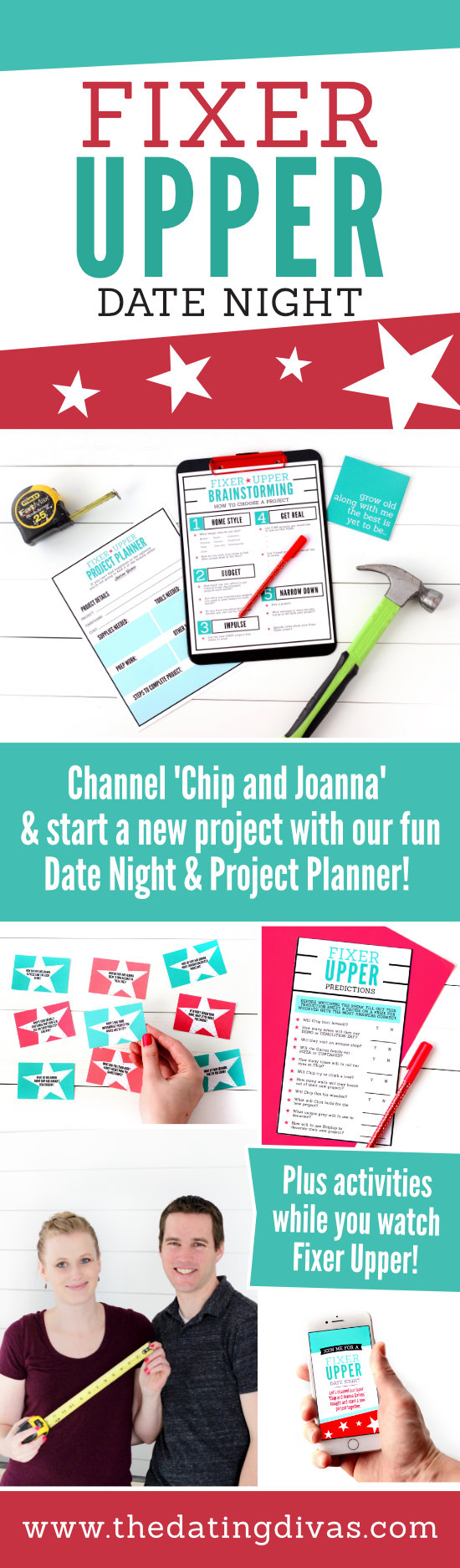 Fixer Upper Date Night Plus Project Planner #fixerupper #datenight