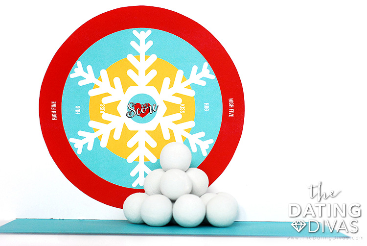 Indoor Snowball Fight Target Practice