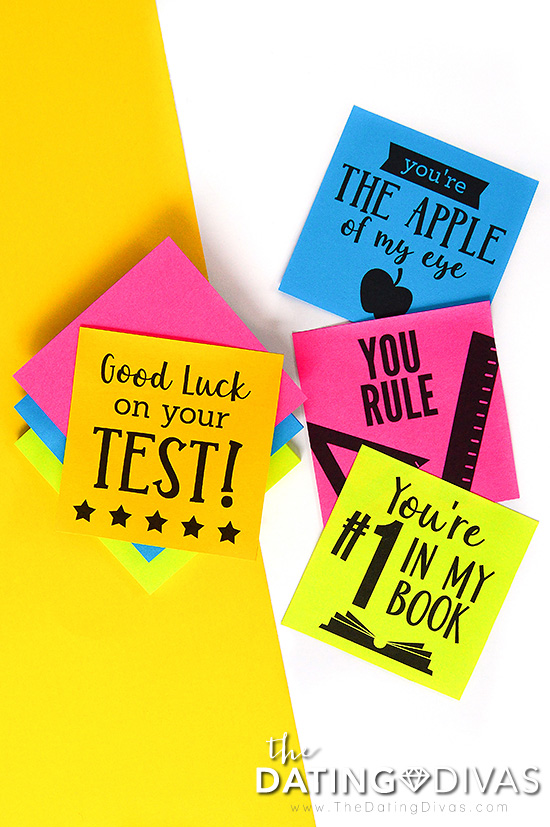 School-Themed Sticky Notes