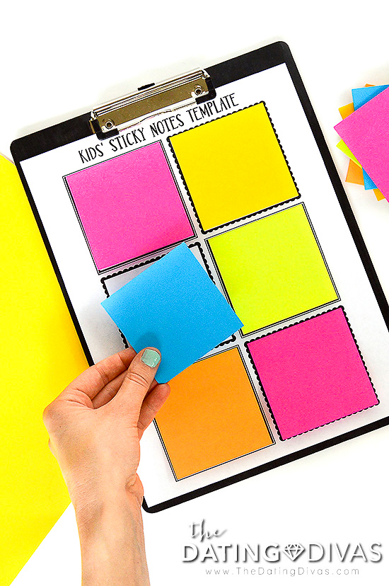 Kids' Sticky Notes Template
