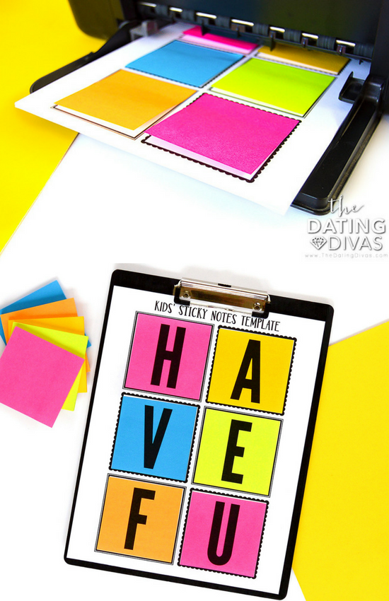 How to print on sticky notes.