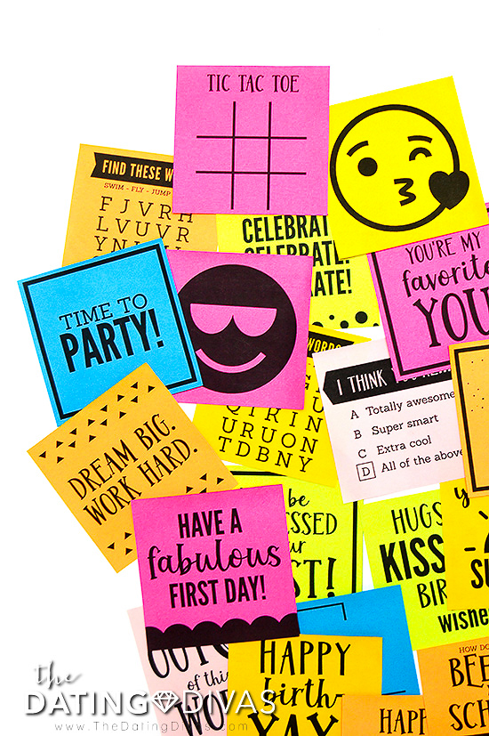 Printable Sticky Notes for Kids
