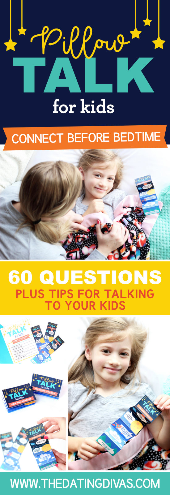 Pillow Talk Questions for Kids #Questionsforkids #bedtime