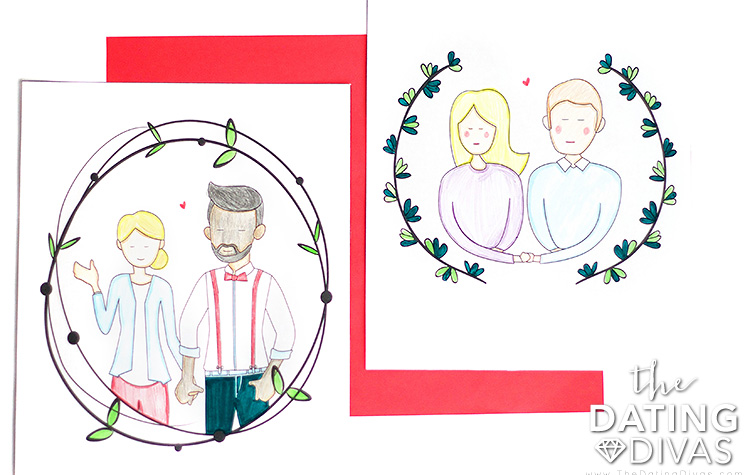 DIY Custom Couple Illustrations