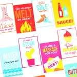 """Punny"" Gift Tags for V-Day"