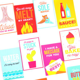 Valentine themed punny gift tags.