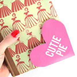 Cutie Pie bookmark for Valentine's Day