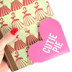 Cutie Pie bookmark for Valentine's Day