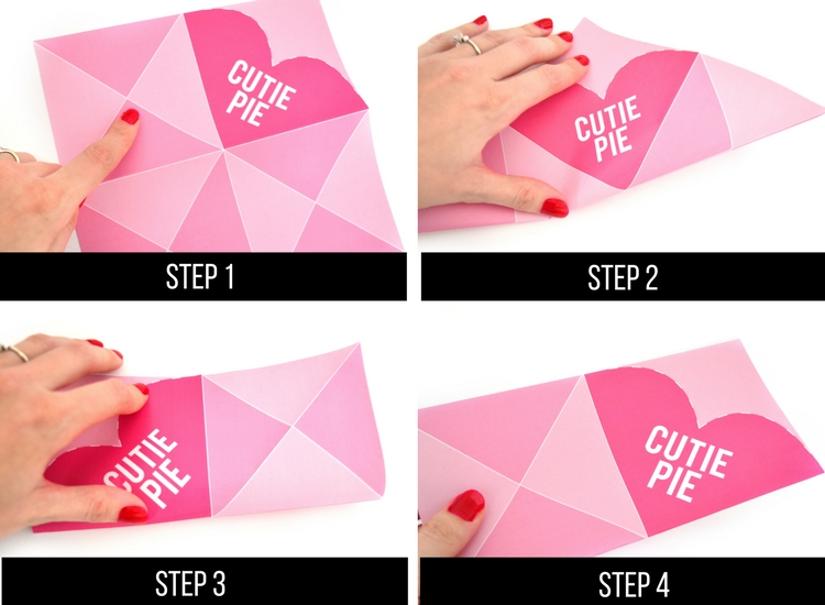 How to make an origami heart.