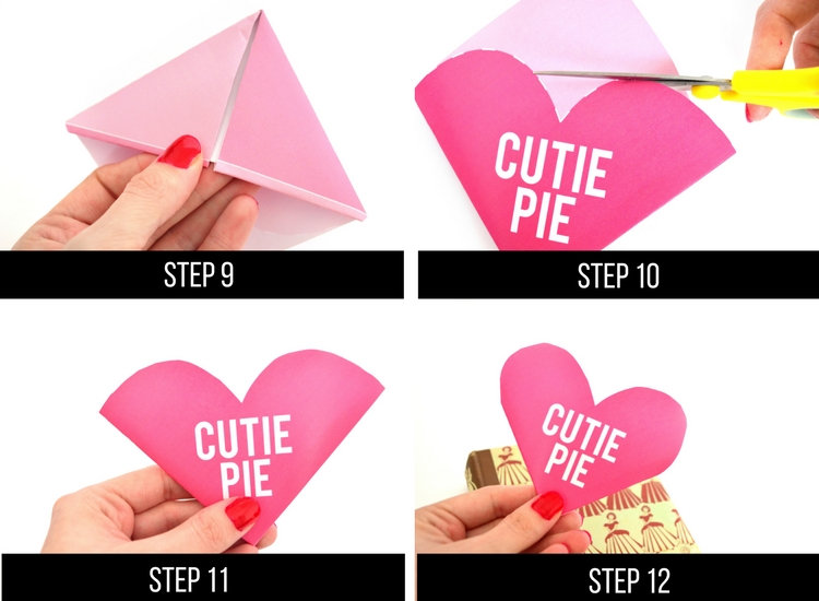 Origami how-to for V-day