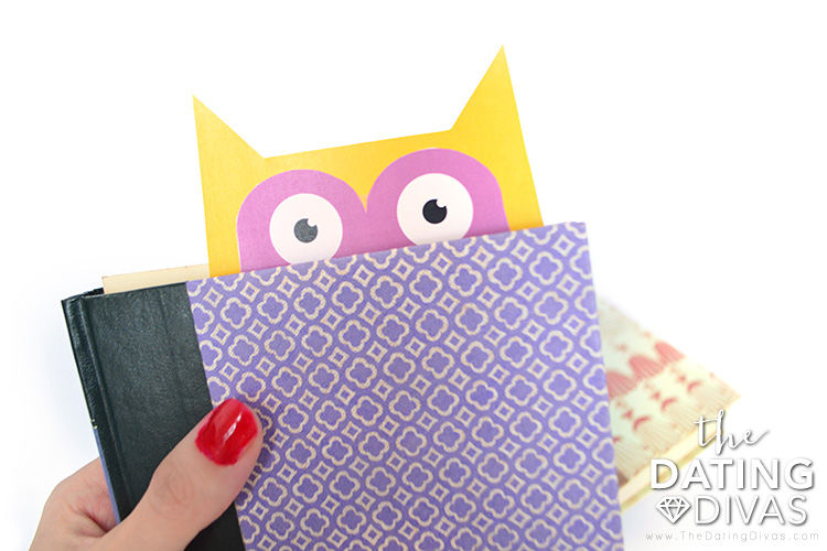 Owl bookmark for Valentine's Day.