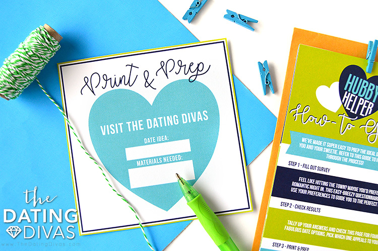 Date Night Hubby Helper Print and Prep