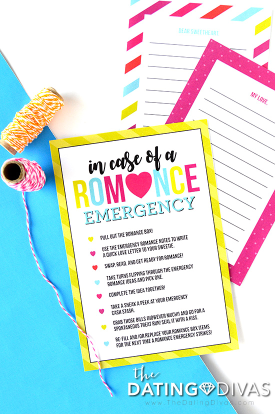 Emergency Romance Box Instructions