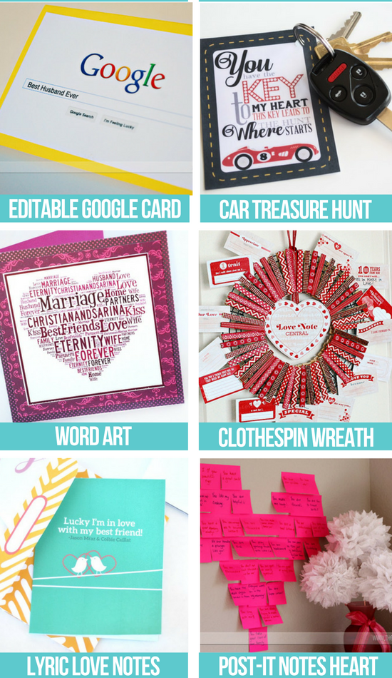6 Fun Free Love Notes ideas in collage