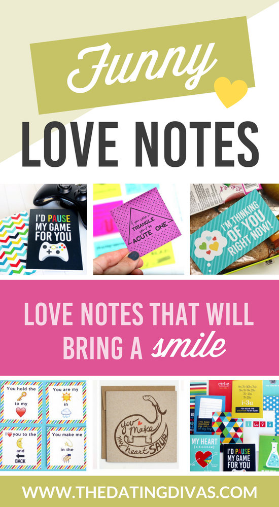 Funny and cute Love Note ideas banner