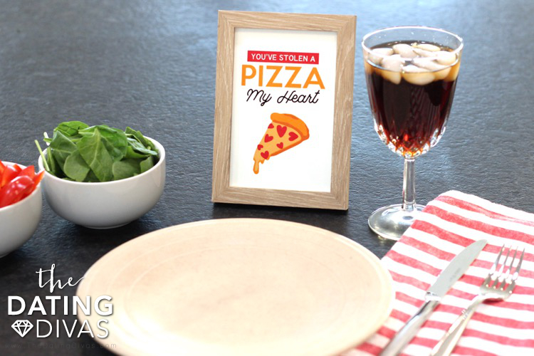 Pizza Date Night Framed Art