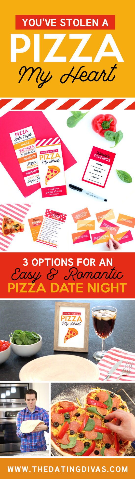 Pizza My Heart Date Night Ideas #HomemadePizza #PizzaDate